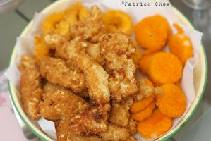 Seafood fritters by patchow