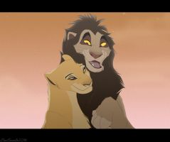 Commission: Lion Lovers by Dwarfdraco