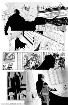 Batman: Black and White page 1 by cabaleiro-art
