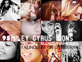 95 miley cyrus icons by sweetestkisses