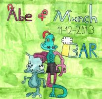 Abe and Munch the OddTastic duo by BARproductions