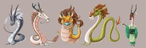 Four Dragon Kings- Mock Lineup by Turtle-Arts
