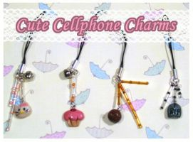 Cute Cellphone Charms by chat-noir