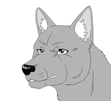 Dog face lineart by Gingastar18