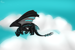 Flying .:CM:. (speed paint) by ToothlessFury26