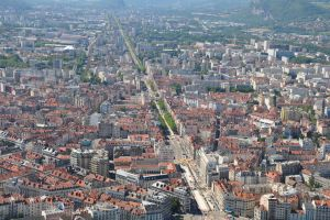 Grenoble - aerial view by Rikitza