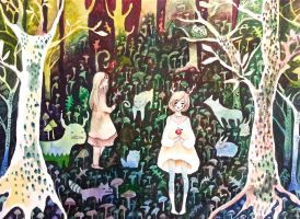 Forest of creatures by kittygurl21