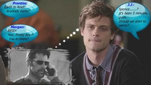 Spencer Reid day dreaming........ by LycanLover18