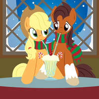 Niku x AJ's Hearth's Warming Eve by PrinnyAniki