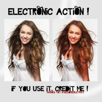 electronic action by awesomemileyray