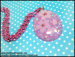 Cherry Blossom Necklace by GrandmaThunderpants