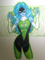 female green lantern by JamieFayX