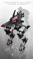 Warframe: The Riot Moa - Gatling Moa Variation by Liger-Inuzuka