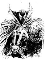 spawn ink sketch by Fpeniche