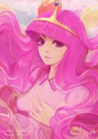 Princess Bubblegum by alaskaYU
