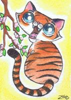 Funny cat Chinese Zodiac Year of the Tiger by KingZoidLord