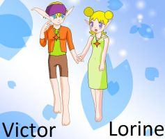 JnD- Victor and Lorine by Emikodo