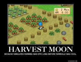 Harvest Moon Motivational Poster by MountainEyes-Ext