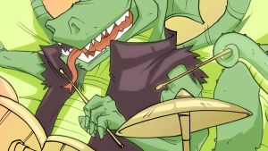 Dragon on drums by Studion8