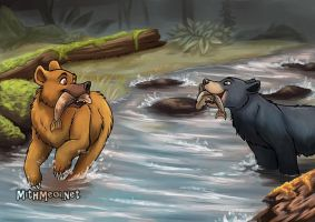 River Bears by Greykitty