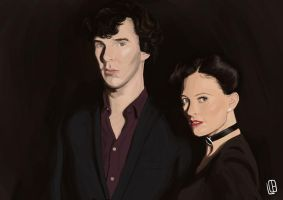 Sherlock and Irene by Misaky