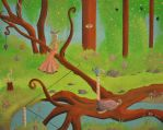 LOST IN THE WOODS by davegoldartgallery