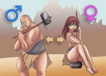 Barbarian Tg before and after by Rezuban