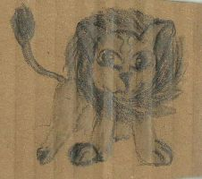 Cardboard Lion by LIZ94