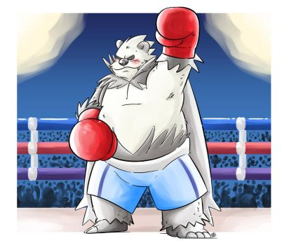 Pangoro boxing by Kamui270