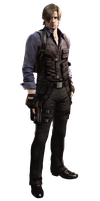 RE6 - Leon Costume 2 - Professional Render by Allan-Valentine