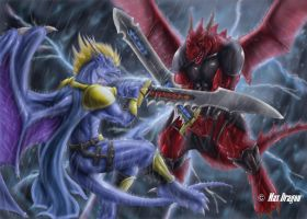 Dermo vs. Wulsiter by Max-Dragon