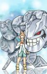 Jasmine/Yaz  and his Steelix by Lhuckas