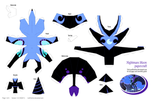 Nightmare Moon papercraft 1of4 by muffinshire