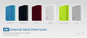 WD External Hard Drive Icons by jrdnG
