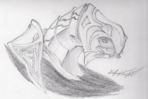 Arbiter in pencil by PsychicKirby