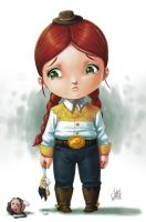 little cowgirl by luihzUmreal