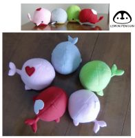 Whale Plush Dolls by Lemonpez