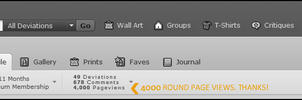 4000 Pageviews by EfGraphicDesing