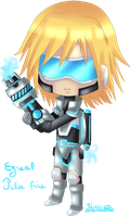 Chibi Ezreal Pulse Fire ( league of legends ) by Hyldenia