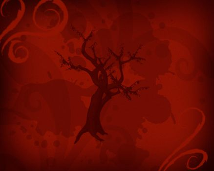 Red Tree Background by vectormagic