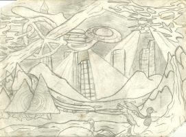 Visitors from 6th planet circling Narusa 4-6-1994 by grizlykats