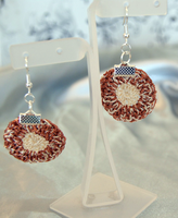 Round crochet earrings by vrlovecats