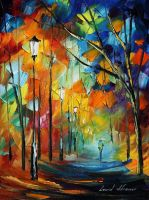 Long way by Leonid Afremov by Leonidafremov