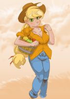 Applejack on the Farm by foolyguy