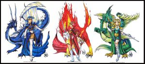 The Magic Knights by Ahr0