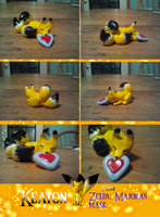 Tiny Heart Piece-Keaton Clay Figure by Super-Sonic-101