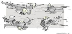 Airplanes concepts by BastaMarcin