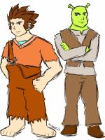 Ralph and Shrek by AniLover16