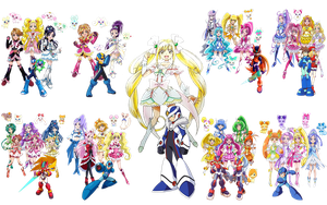 Precure All Stars New Stage 1 and 2- Rockman Xover by isaacyeap