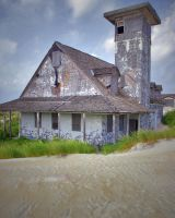 Abandoned House on Beach by skipsstock